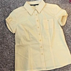 Chadwicks Sz 4P Womens Yellow Striped Shirt Career